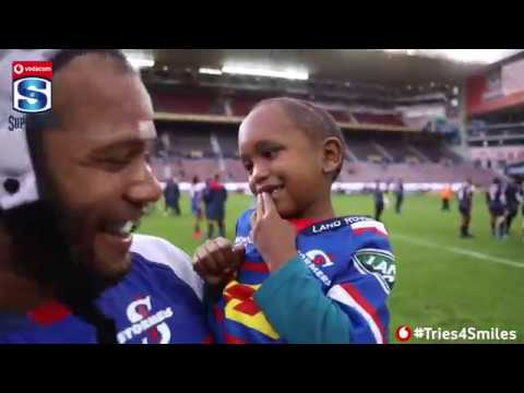 Vodacom #Tries4Smiles - the DHL Stormers vs Rebels Mascot match day experience