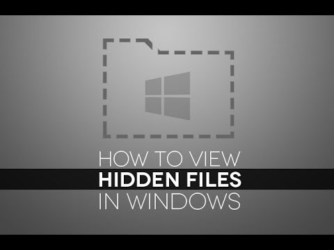 How to hide Unhide Folder and Files in Windows 10 Pro
