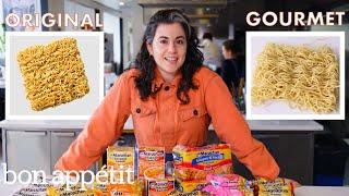 Pastry Chef Attempts to Make Gourmet Instant Ramen | Gourmet Makes | Bon Appétit