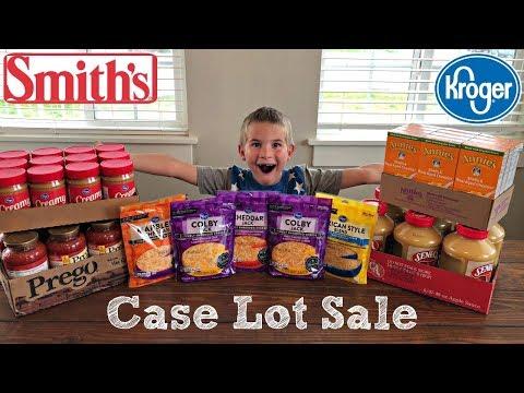 $54 SMITHS & KROGER CASE LOT SALE :: GROCERY HAUL WITH LUKE :: APRIL 2018