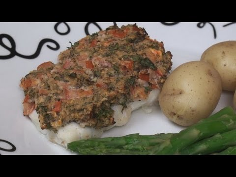 Baked Fish with Herb Crust Recipe