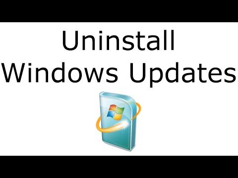 How to Uninstall Windows Updates
