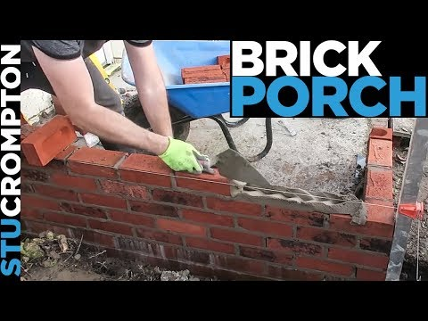 how to build a brick porch - bricklaying tutorial stu crompton