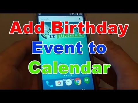 Google Nexus 5: How to Add a Birthday Event to Calendar