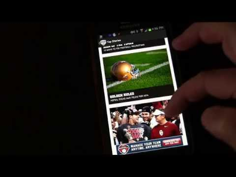 ESPN College Football Android App - Review & Demo