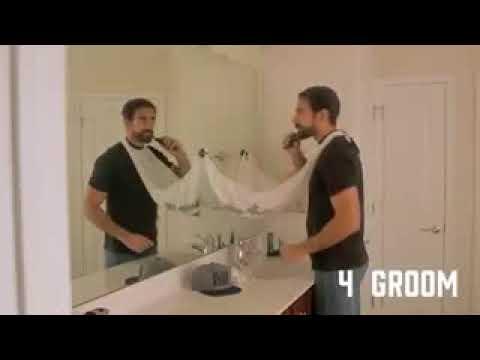 Creative Bathroom Tool Man Hair Beard Shaving Catcher Apron