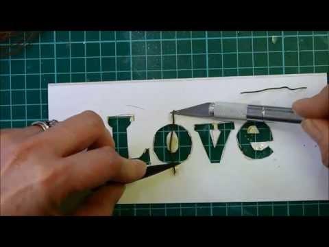 Easy stencil cutting by hand