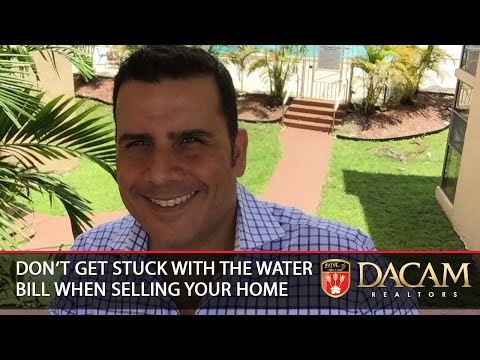 Miami Real Estate Agent: Don't get stuck with a high water bill