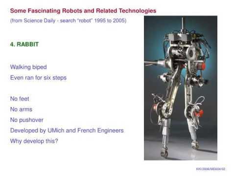 ME604 : Robotics - Lec # 2 : Overview - 04 Jan 2006