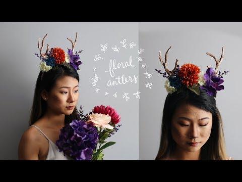 DIY Floral Antlers + Deer Makeup