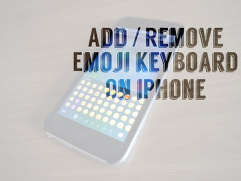 How to Add or Remove the Emoji Keyboard on iPhones! (NEW, 2015)