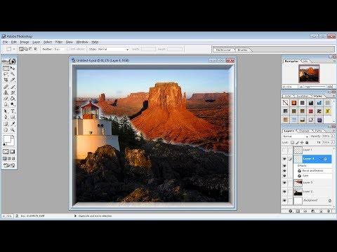 Photoshop tutorials |How Merge Two images in Photoshop