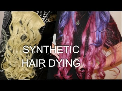 How To: DYE SYNTHETIC HAIR