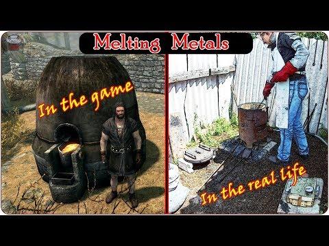 Metals melting. Game vs Real Life! How to make Dwarven ingot.
