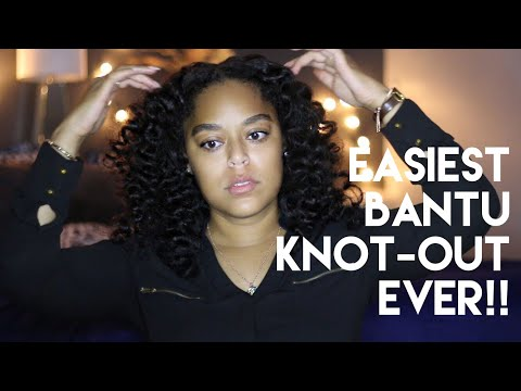 SUPER SLEEK + EASY BANTU KNOT-OUT!! | Danielle Renée