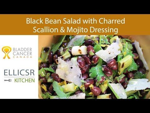 Black Bean Salad with Charred Scallion & Mojito Dressing
