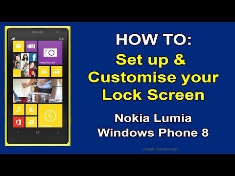 How To Set Up Lock Screen on Nokia Lumia Windows Phone 8