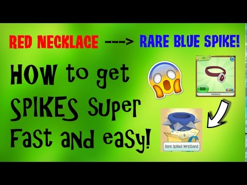 TRADING NECKLACES FOR RARE SPIKES!!! Step by Step - Animal Jam