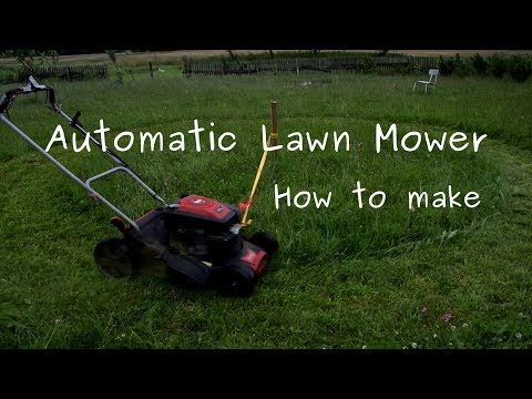 How to make automatic lawn mower - simple rope hack