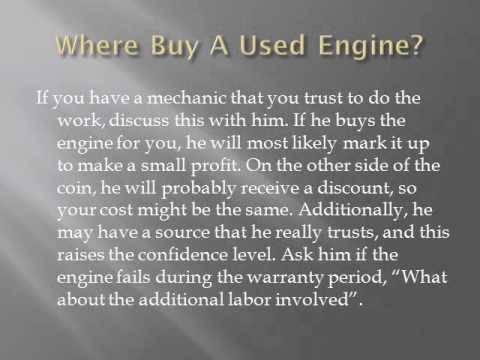 Should I buy a used engine for my car or truck?