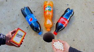 Experiment Coca Cola Pepsi Fanta vs Mentos