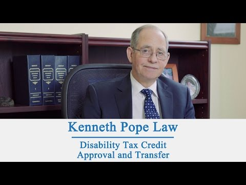 Disability Tax Credit Approval and Transfer