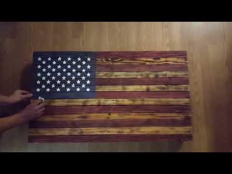 American Flag Locking Gun Cabinet