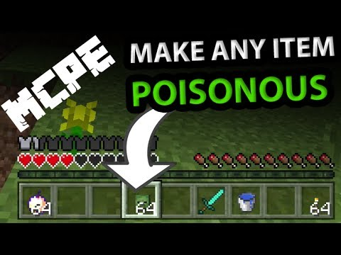 How to make a POISON ITEM in Minecraft PE with command blocks