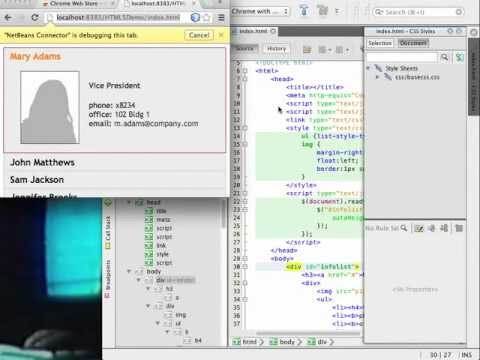 Getting Started with HTML5 Applications in NetBeans IDE