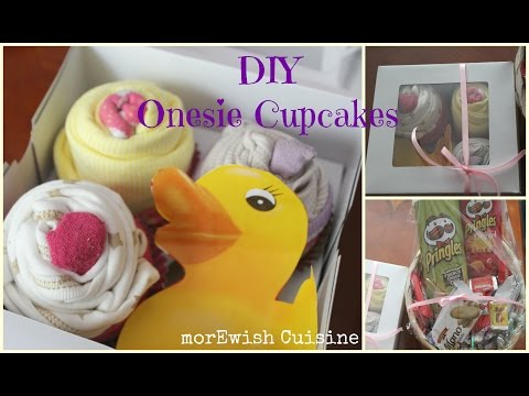 DIY Onesie Cupcakes | Baby shower Idea by morEwish