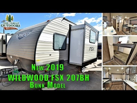 2019 FOREST RIVER WILDWOOD FSX 207BH Bunk Model Front Queen Bed Travel Trailer RV Colorado