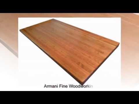 Edge Grain American Cherry Butcher Block Countertop by Armani Fine Woodworking
