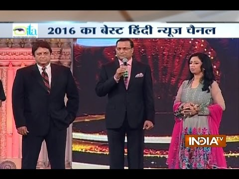 India TV Receives the 'Best Hindi News Channel' Award by the ITA
