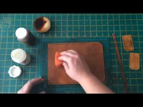 Hammered Leatherworks How to dye Leather