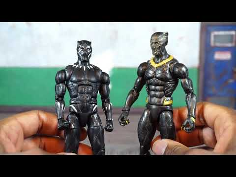 Marvel Legends Black Panther Movie Okoye BAF Wave ERIK KILLMONGER Action Figure Review
