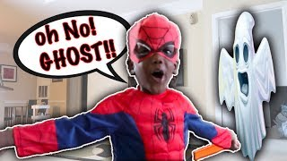 Baby Spiderman Beats Up The Ghost