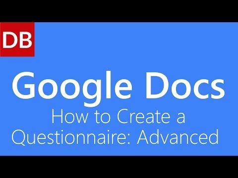 Google Docs Questionnaire: Advanced   Google Docs Tutorial