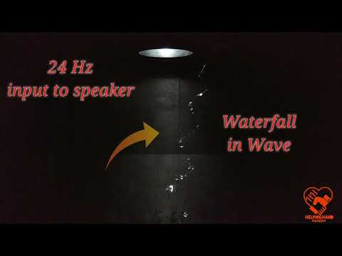 Best DIY Magical Waterfall using Music system and stroboscope video tutorial
