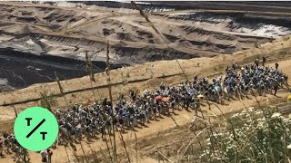 Download Climate Protesters Clash with Police at Coal Mine in Western Germany Video