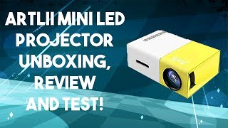 Artlii Mini Projector Unboxing and Review!