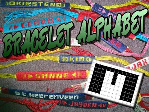 Friendship Bracelet Crochet Yarn, Alphabet: Letter M
