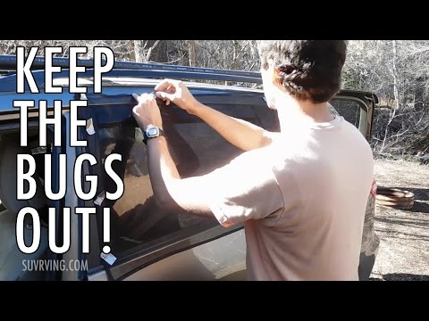 DIY Window Screens/Bug Screens for Sleeping in a Car, SUV, or Van
