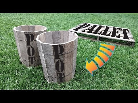 DIY Pallet Planter Pots