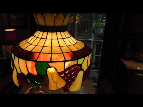 Hanging Stained Glass Light Bought at Yard Sale
