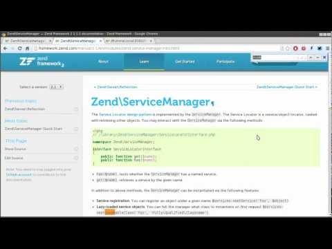 Zend Framework 2.1 tutorial 4: Service Manager