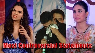 Most Controversial statements by Bollywood celebrities till date | Filmibeat