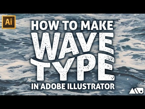 How to Create a Wave Effect on Type in Adobe Illustrator Tutorial