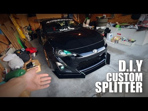 How to Make your own Custom Aggressive Front Splitter (FRS/GT86/BRZ)