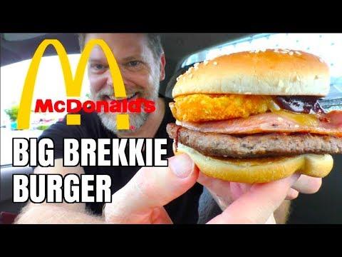 New McDoanld's Big Brekkie Burger Food Review - Greg's Kitchen