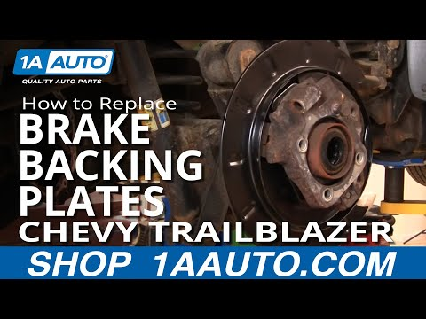 1AAuto.com PART 1 Replace Rusted Rear Brake Backing Plates Trailblazer Envoy